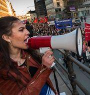 Demonstration under internationella kvinnodagen. Arkivbild. JONAS EKSTRÖMER / TT / TT NYHETSBYRÅN