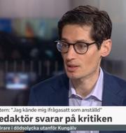 Wolodarski i SVT:s morgonstudio. SVT.