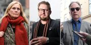 Katarina Frostenson, Fredrik Virtanen och Horace Engdahl.  TT