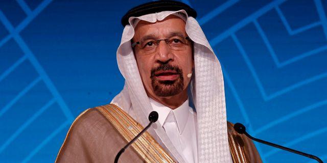 Oljeminister Khalid Al-Falih. ADNAN ABIDI / TT NYHETSBYRÅN