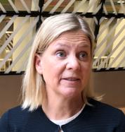 Magdalena Andersson och krögaren PG Nilsson.