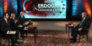 Erdogan intervjuas i A Haber TT NYHETSBYRÅN