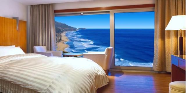Rummen påminner om traditionella hytter. Sun Cruise Resort & Yacht