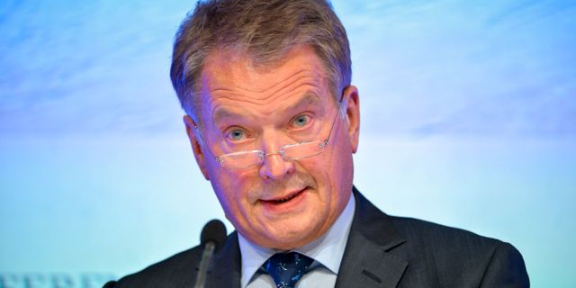 Finlands president Sauli Niinistö. HENRIK MONTGOMERY / TT / TT NYHETSBYRÅN