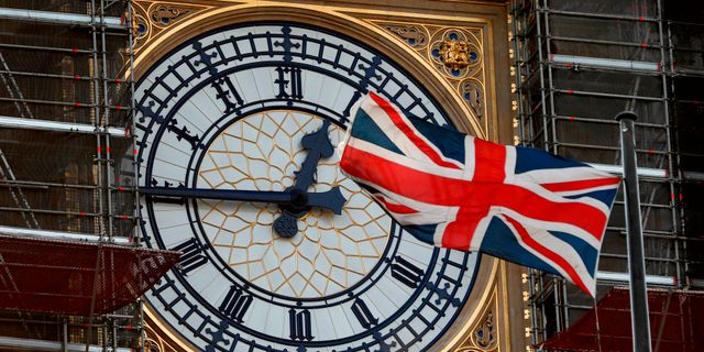 Big Ben under renovering. ADRIAN DENNIS / AFP