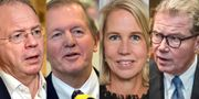 Martin Lundstedt, Marcus Wallenberg, Helena Stjernholm och  Leif Johansson. TT