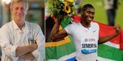 Åke Andrén Sandberg och Caster Semenya.  TT/Bildbyrån.