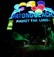 Entrén till Pating Beach, Phuket, Thailand. Sakchai Lalit / TT NYHETSBYRÅN