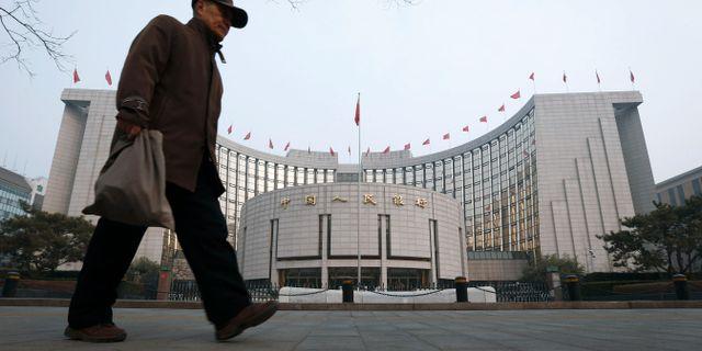 Arkivbild: Kinas centralbank, PBOC.  Vincent Thian / TT / NTB Scanpix
