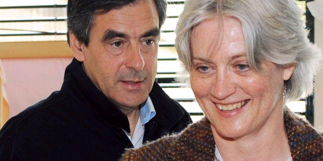 François med hustrun Penelope Fillon. JEAN-FRANCOIS MONIER / AFP