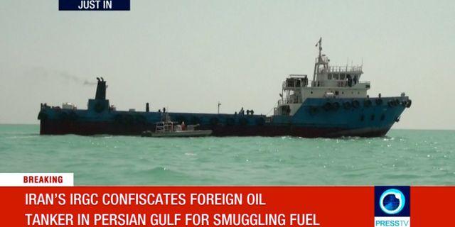 Bilder från iransk stats-tvpå det nya fartyget. REUTERS TV / TT NYHETSBYRÅN