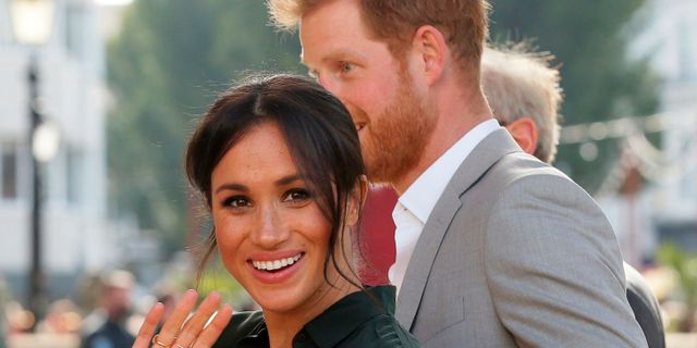 Brittiska prinsparet Harry och Meghan MArkle. TIM IRELAND / POOL