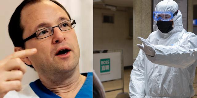 Björn Olsen / Smittskyddsarbetare i Beijing Pressbild Akademiska sjukhuset / TT