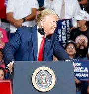 Donald Trump i Tulsa.  Stephen Pingry / TT NYHETSBYRÅN