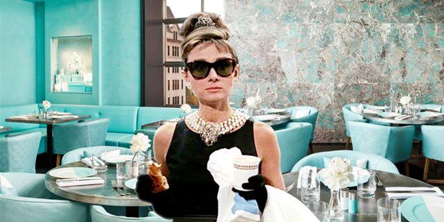 """Audrey Hepburn i """"Breakfast at Tiffany's"""" från 1961."""