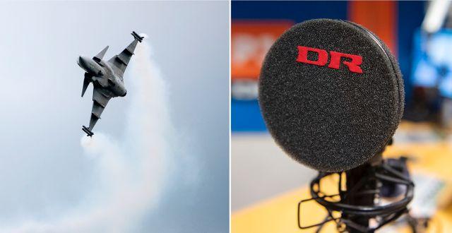 Saabs Gripenplan. En mikrofon på Danmarks Radios redaktion.  RR