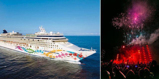 Norwegian Pearl förvandlas till världens största flytande nattklubb i augusti. World Club Dome / Pexels
