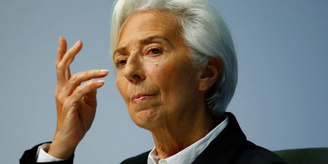 Arkivbild: Christine Lagarde.  RALPH ORLOWSKI / TT NYHETSBYRÅN