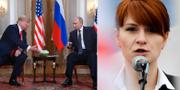 Donald Trump, Vladimir Putin/Maria Butina. TT