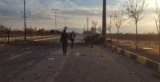 Bild från staden Absard, där attentatet skedde.  TT NYHETSBYRÅN
