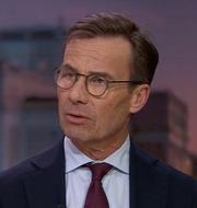Ulf Kristersson (M) i kvällens Aktuellt SVT