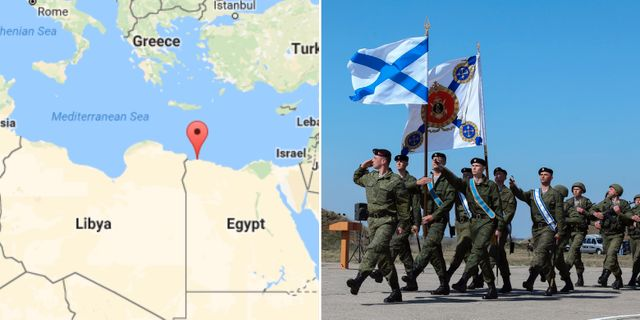 Karta/Ryska marinsoldater i på en militärbas på Krim-halvön.  AP