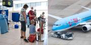 I går flög de första svenska turisterna till Grekland. TT