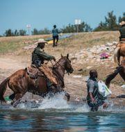 Gränsvakter vid Del Rio i helgen. TT