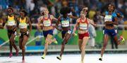 Målgången i damernas final i 400 meter häck i OS i Rio de Janeiro 2016. Lee Jin-man / TT NYHETSBYRÅN