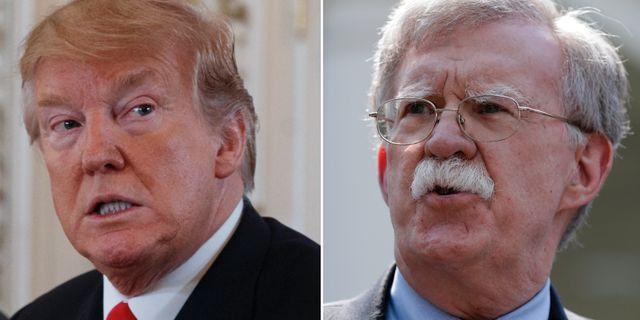 Donald Trump och John Bolton.  TT.