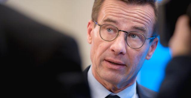 M-ledaren Ulf Kristersson. Amir Nabizadeh/TT / TT NYHETSBYRÅN