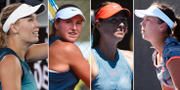 Caroline Wozniacki, Rebecca Peterson, Maria Sjarapova och Johanna Larsson.  TT.