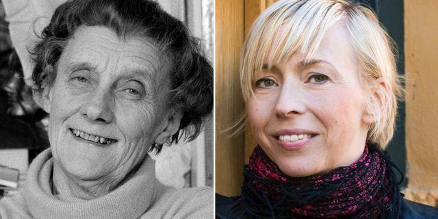 Arkivbild. Astrid Lindgren och Jenny Jägerfeld.  TT