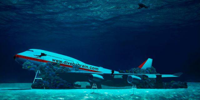 Grundarna till den 100 000 kvadratmeter stora dykplatsen säger att deras Boeing är helt miljövänlig. Dive Bahrain