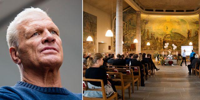 Frank Andersson och Frank Anderssons begravning.  Bildbyrån.