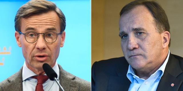 M-ledaren Ulf Kristersson samt statsminister Stefan Löfven. TT.