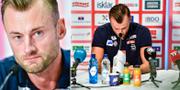 Petter Northug under pressträffen. TT