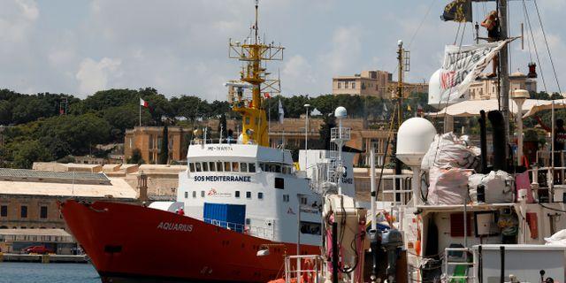 Räddningsfartyget Aquarius. Darrin Zammit Lupi / TT NYHETSBYRÅN