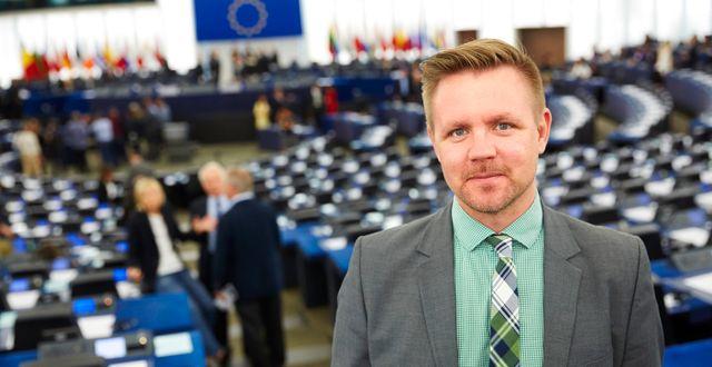 Fredrick Federley i EU-parlamentet.  FREDRIK PERSSON / TT / TT NYHETSBYRÅN