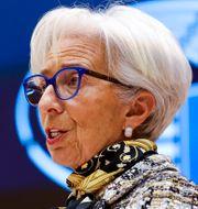 Christine Lagarde.  Olivier Matthys / TT NYHETSBYRÅN