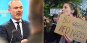 Jan Björklund/Protester mot AFD:s framgångar i valet TT