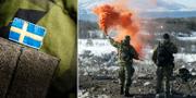 Svensk militärmundering. Norska kustjägare under en militärövning i Ramsund. Arkivbilder. TT