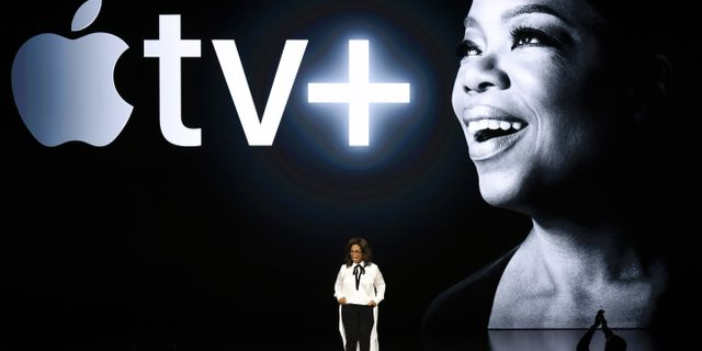 Oprah Winfrey i samband med att Apple presenterade sin tjänst Apple tv+ Michael Short / GETTY IMAGES NORTH AMERICA