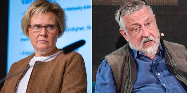 Petra Lundh och Leif GW Persson.  TT
