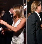 Brad Pitt och Jennifer Aniston sammanstrålar på SAG awards. TT
