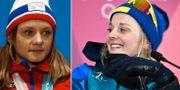Maiken Caspersen Falla och Stina Nilsson. TT