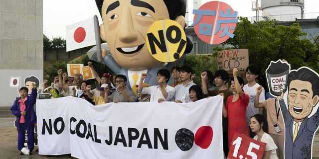 Protester mot kolkraft under G20-mötet 2019.  Jae C. Hong/TT