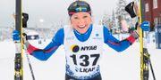 Frida Karlsson efter segern. Fredrik Sandberg/TT / TT NYHETSBYRÅN