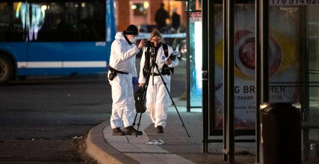 Polis på plats Anders Wiklund/TT / TT NYHETSBYRÅN