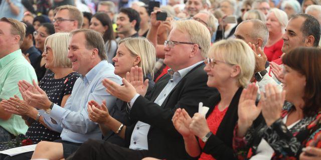 Några av Socialdemokraternas toppnamn. Sören Andersson/TT / TT NYHETSBYRÅN